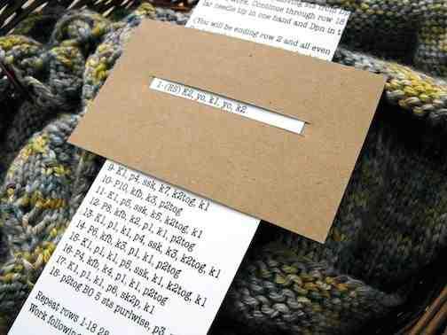 Comment créer un motif tricoté?