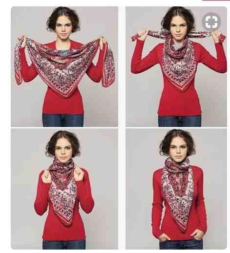 Comment mettre l'écharpe de votre femme?