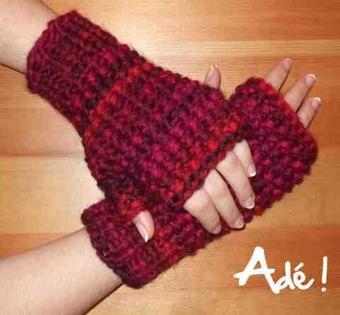 Comment tricoter des mitaines sans doigts faciles?