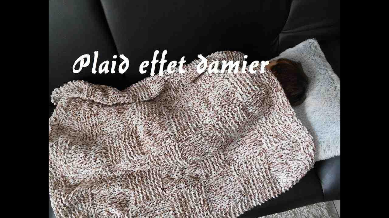 Comment tricoter un grand carreau à carreaux?