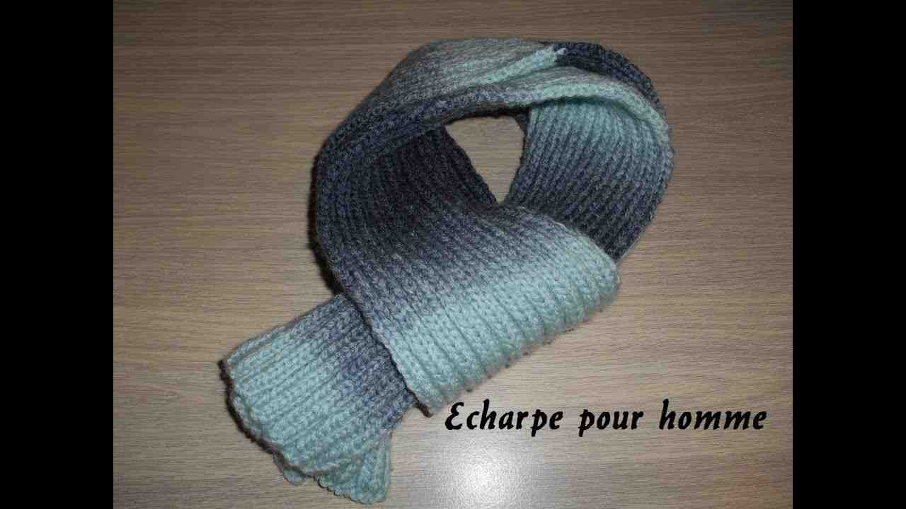 Comment tricoter une écharpe pour homme ?