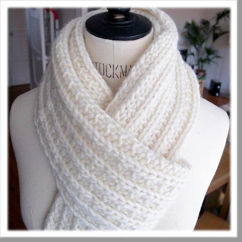 Quel point pour tricoter une écharpe femme ?