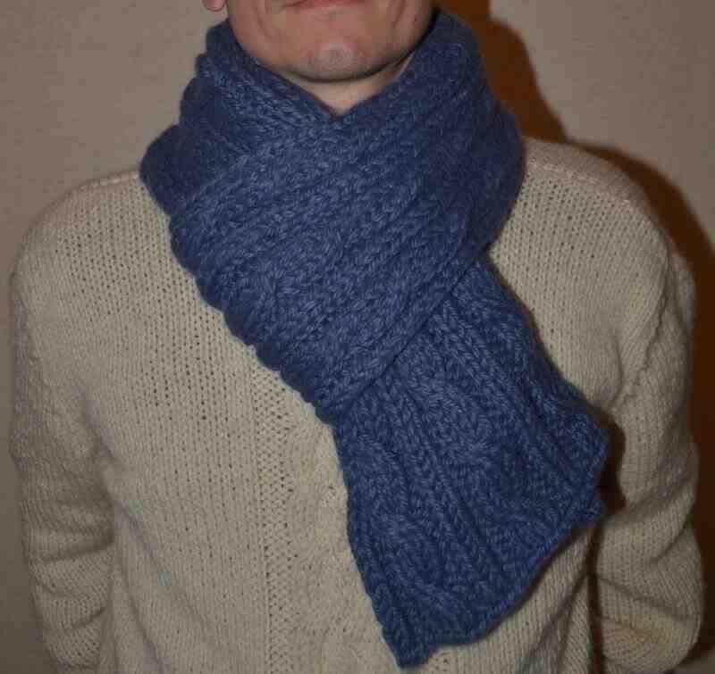 Combien de temps est-ce pour un foulard pour homme?