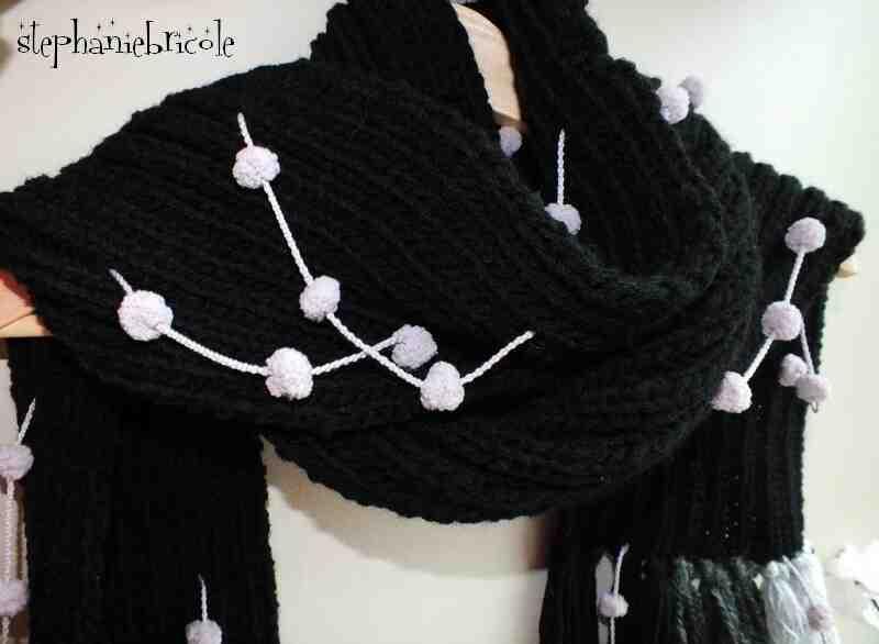 Comment finir une écharpe en laine?