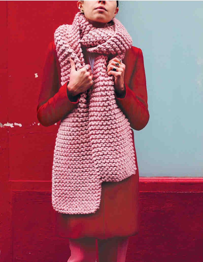 Comment tricoter les bords d'une écharpe?