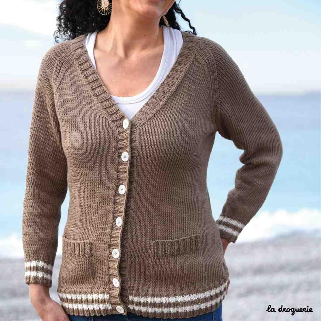 Comment tricoter un col en V?