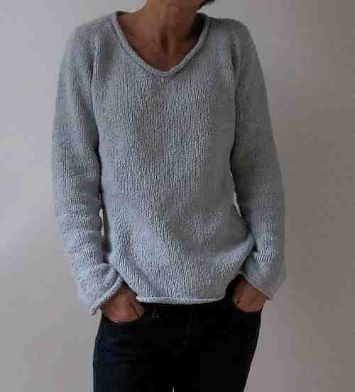 Comment tricoter un pull col V?