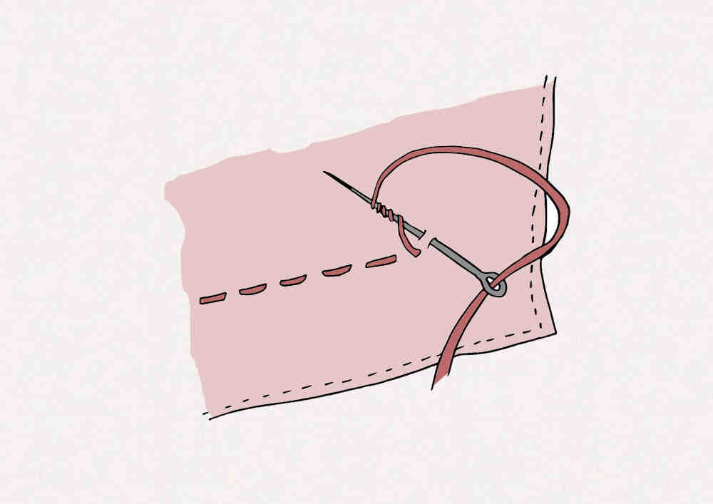 Comment soulever un cordon à coudre?