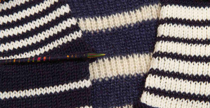 Comment tricoter avec 2 fils différents?