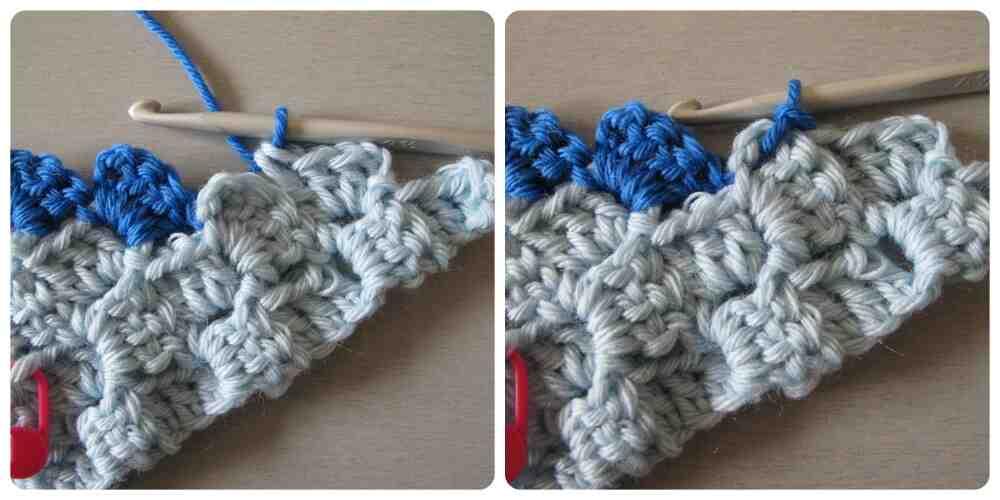 Comment tricoter avec deux fils de couleurs différentes?