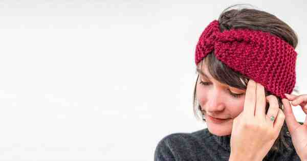 Comment tricoter un bandeau avec une torsade au milieu ?