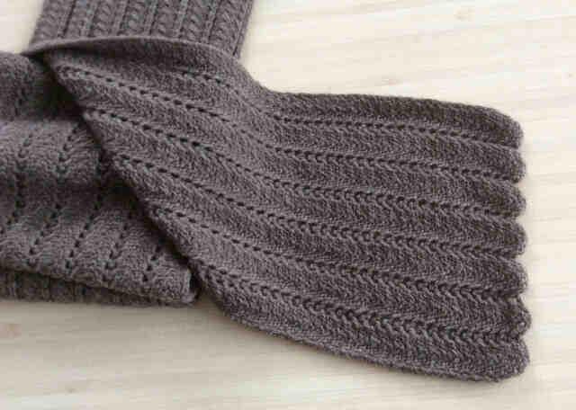 Comment tricoter une écharpe pour homme?