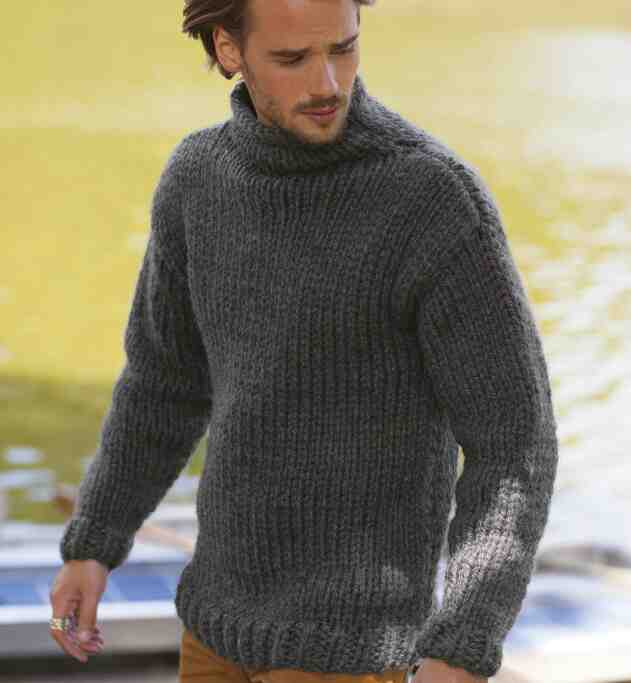Patron tricot pull homme