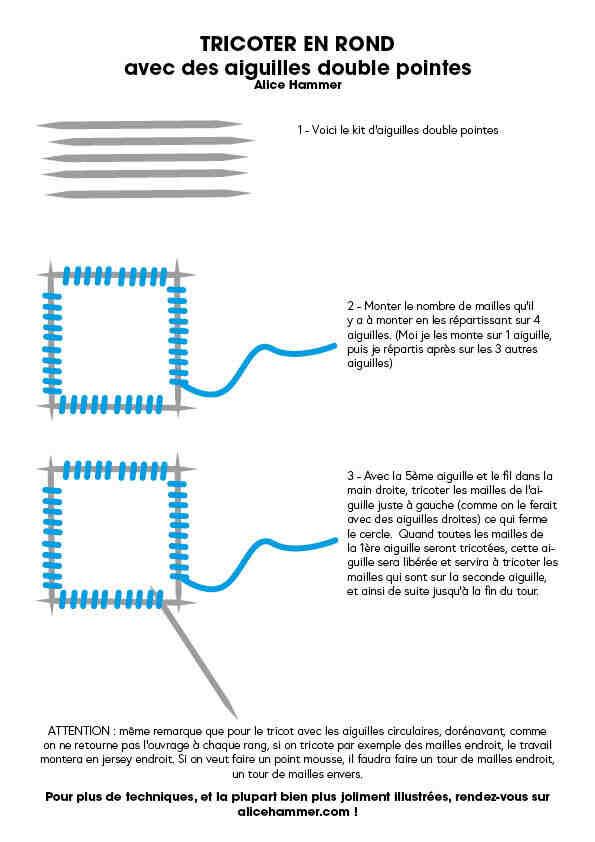 Comment arrêter un tricot circulaire ?